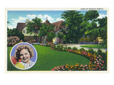 Santa Monica, California - Shirley Temple&#39;s Home Prints by Lantern Press 