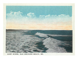 Old Orchard Beach, Maine - View of Surf Kunstdrucke von  Lantern Press
