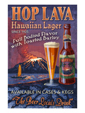 Hawaiian Hop Lava Lager Prints by  Lantern Press