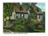 Hartford, Connecticut - Harriet Beecher Stowe House Exterior Posters by Lantern Press