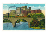 Minneapolis, Minnesota - Exterior View of the Pillsbury Flour Mills Prints by  Lantern Press