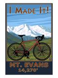 I Made It! Mt. Evans, Colorado Elv. 14,270 Schilderijen van  Lantern Press