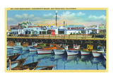 San Francisco, California - Dimaggio's Restaurant on Fisherman's Wharf Poster by  Lantern Press