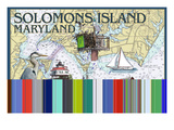 Solomons Island, Maryland - Nautical Chart Affiche par Lantern Press