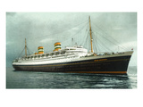 View of Holland American Ocean Liner SS Nieuw Amsterdam Prints by Lantern Press 