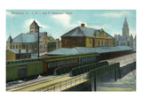 Davenport, Iowa - Chicago, Rock Island, and Pacific Train Depot Art by  Lantern Press