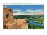 Lookout Mountain, Tennessee - Ochs Memorial and Point Rock Scenic Aerial View Posters by  Lantern Press