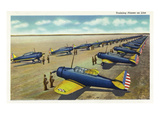 US Army - Training Planes on Line Scene Print by  Lantern Press