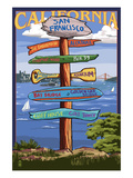 San Francisco, California - Sign Destinations Posters by  Lantern Press
