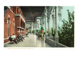 Tampa, Florida - Tampa Bay Hotel Porch Scene Poster by  Lantern Press