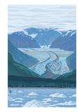 Glacier - Waterline Prints by  Lantern Press