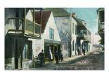 St. Augustine, Florida - View Down Charlotte Street Poster von  Lantern Press