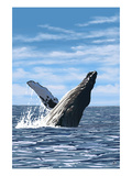 Humpback Whale - Ocean Prints by  Lantern Press