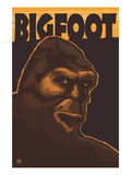 Bigfoot Face Poster by  Lantern Press
