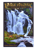 Kings Creek Falls - Lassen Volcanic National Park, CA Poster di  Lantern Press