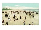 Sea Breeze, Florida - Crowds on the Beach Prints by  Lantern Press