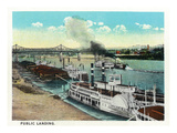 Cincinnati, Ohio - Public Boat Landing Scene Poster by  Lantern Press