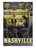 Nashville, Tennessee - Saloon Scene Affischer av  Lantern Press