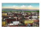 Eureka, California - Panoramic View of Town Art by  Lantern Press