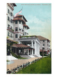 Pasadena, California - Hotel Raymond Main Entrance View Print by  Lantern Press