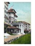 Pasadena, California - Hotel Raymond Main Entrance View Print by  Lantern Press