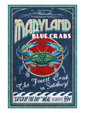 Blue Crabs - Salisbury, Maryland Prints by  Lantern Press
