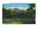 North Carolina - View of Mount Pisgah from Hominy Creek Posters by Lantern Press