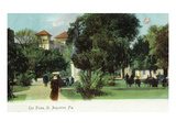 St. Augustine, Florida - View of the Plaza Poster by  Lantern Press