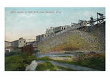 New York - Split Rock Quarry Main Crusher View Near Syracuse Print by  Lantern Press