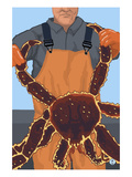 King Crab Fisherman Posters by Lantern Press