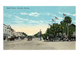 Daytona Beach, Florida - View Down Beach Street Print by Lantern Press
