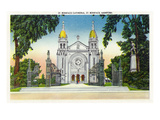 Saint Boniface, Manitoba - St. Boniface Cathedral Exterior in Winnipeg Art by  Lantern Press
