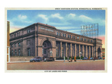 Minneapolis, Minnesota - Great Northern Train Station View Prints by  Lantern Press