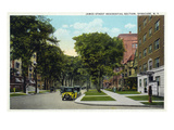 Syracuse, New York - Residences Along James Street Poster by  Lantern Press
