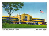 New York City, New York - View of La Guardia Airport Terminal Prints by  Lantern Press