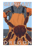 King Crab - Gearhart, Oregon Poster by Lantern Press