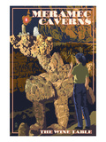 Meramec Caverns, Missouri - The Wine Table Posters by  Lantern Press