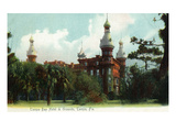 Tampa, Florida - Tampa Bay Hotel and Grounds Scene Art by  Lantern Press