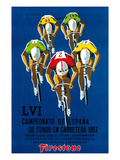 Cartel de carrera ciclista Arte por  Lantern Press