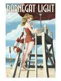 Barnegat Light, New Jersey - Pinup Girl Lifeguard Posters by  Lantern Press