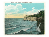 Lakewood, Ohio - Shoreline Scene Kunstdrucke von  Lantern Press