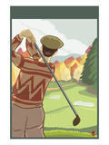 Golfer Art by  Lantern Press