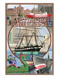 Baltimore Inner Harbor Scenes - Maryland Posters by  Lantern Press