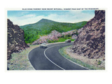 North Carolina - Blue Ridge Parkway, View of the Parkway Near Mount Mitchell Print by  Lantern Press