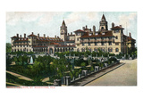 St. Augustine, Florida - Exterior View of Ponce De Leon Hotel Art by  Lantern Press