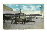 Newport News, Virginia - Monoplane at the Atlantic Coast Prints by  Lantern Press