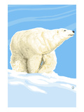 Polar Bear Solo Prints by  Lantern Press