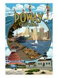 Poway, California Montage Prints by  Lantern Press