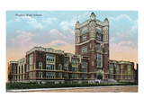 Cincinnati, Ohio - Hughes High School Exterior Prints by  Lantern Press