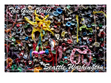 Seattle, Washington - Gum Wall on Post Alley Print by  Lantern Press